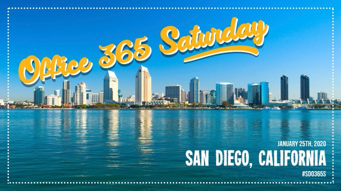 Office 365 Saturday San Diego Graphic