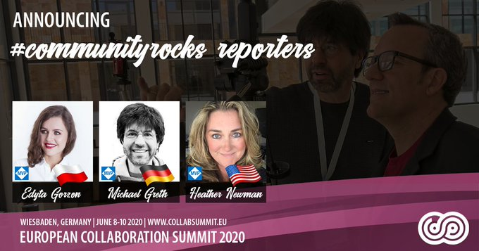 European Collaboration Summit #communityrocks reporters
