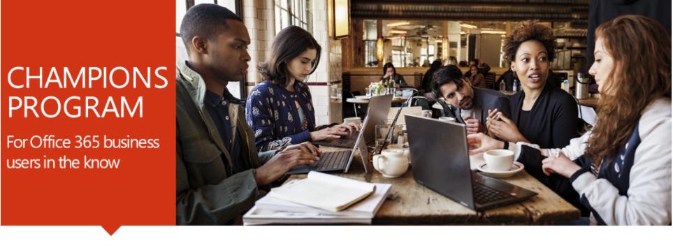Office 365 Champions Program Website